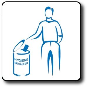 Logo Hygienebehälter Herrentoiletten